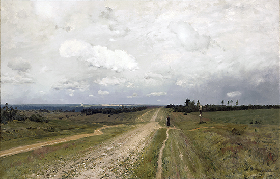 Isaak Ilyich Levitan, Vladimirka Road (Vladimirka), 1892, oil on canvas, 79 x 123 cm (The State Tretyakov Gallery, Moscow, © 2011 )