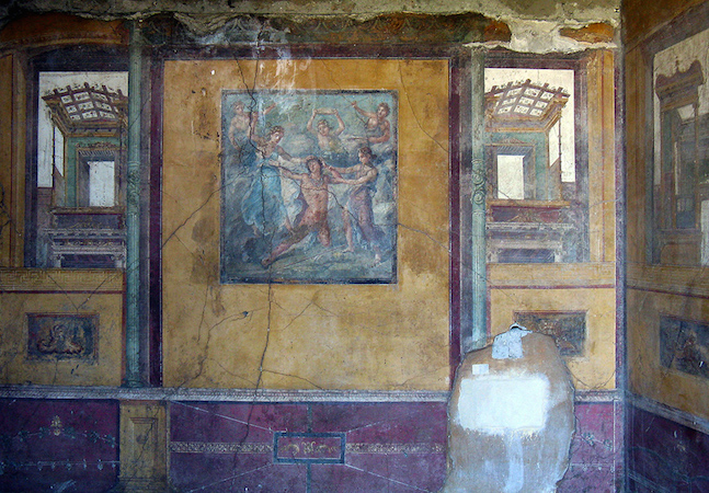 Fourth style wall paintings (from a room off the peristyle), House of the Vettii, Pompeii