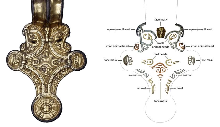 Decoding the square-headed brooch (bottom) © Trustees of the British Museum