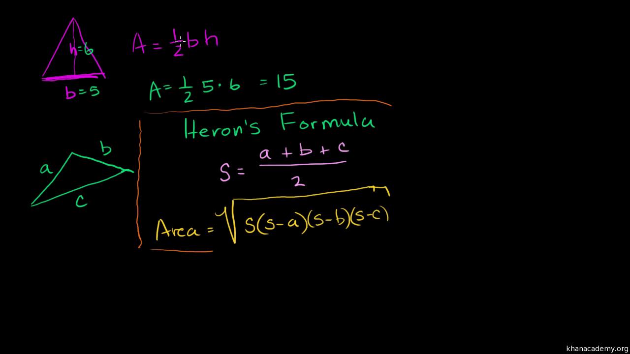 Heron's formula (video) | Khan Academy