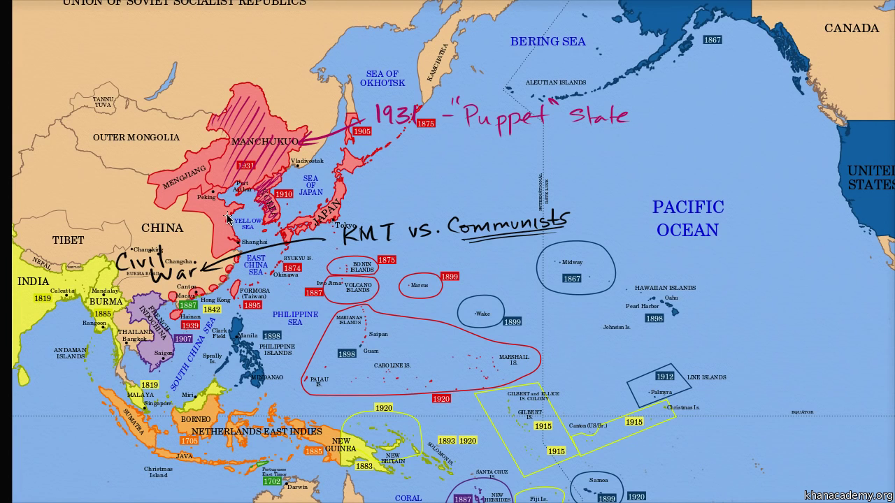 Map Of Asia Pre Ww2.Beginning Of World War Ii Video Khan Academy