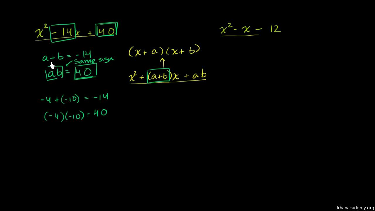 Factorization Algebra I Math Khan Academy