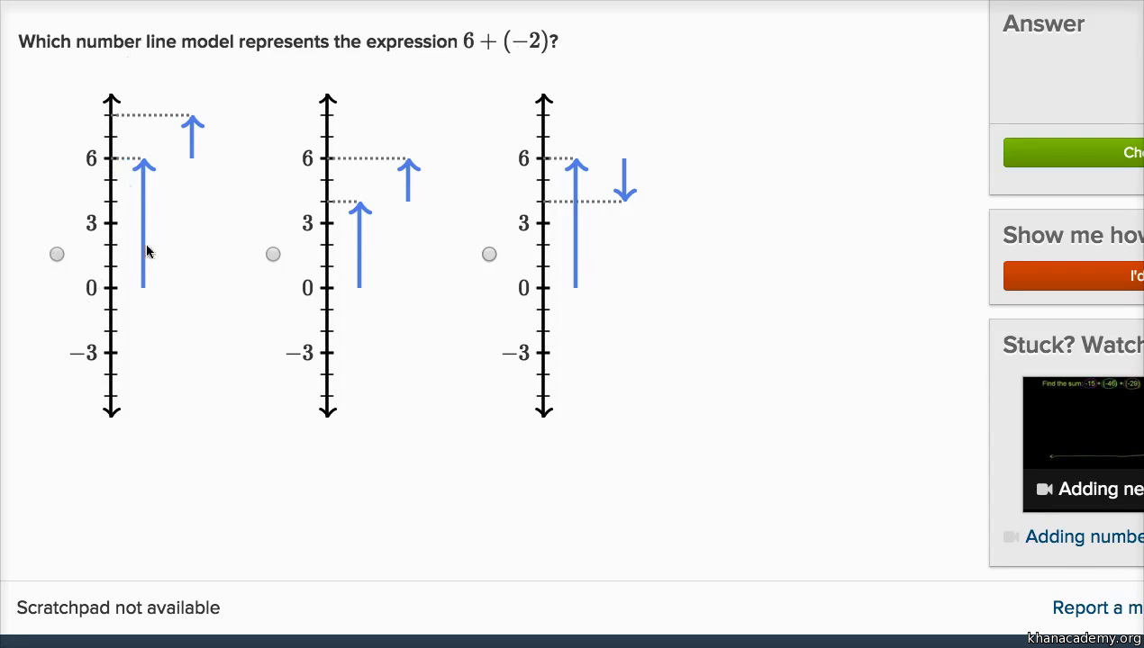 adding negative numbers on the number line video  khan academy