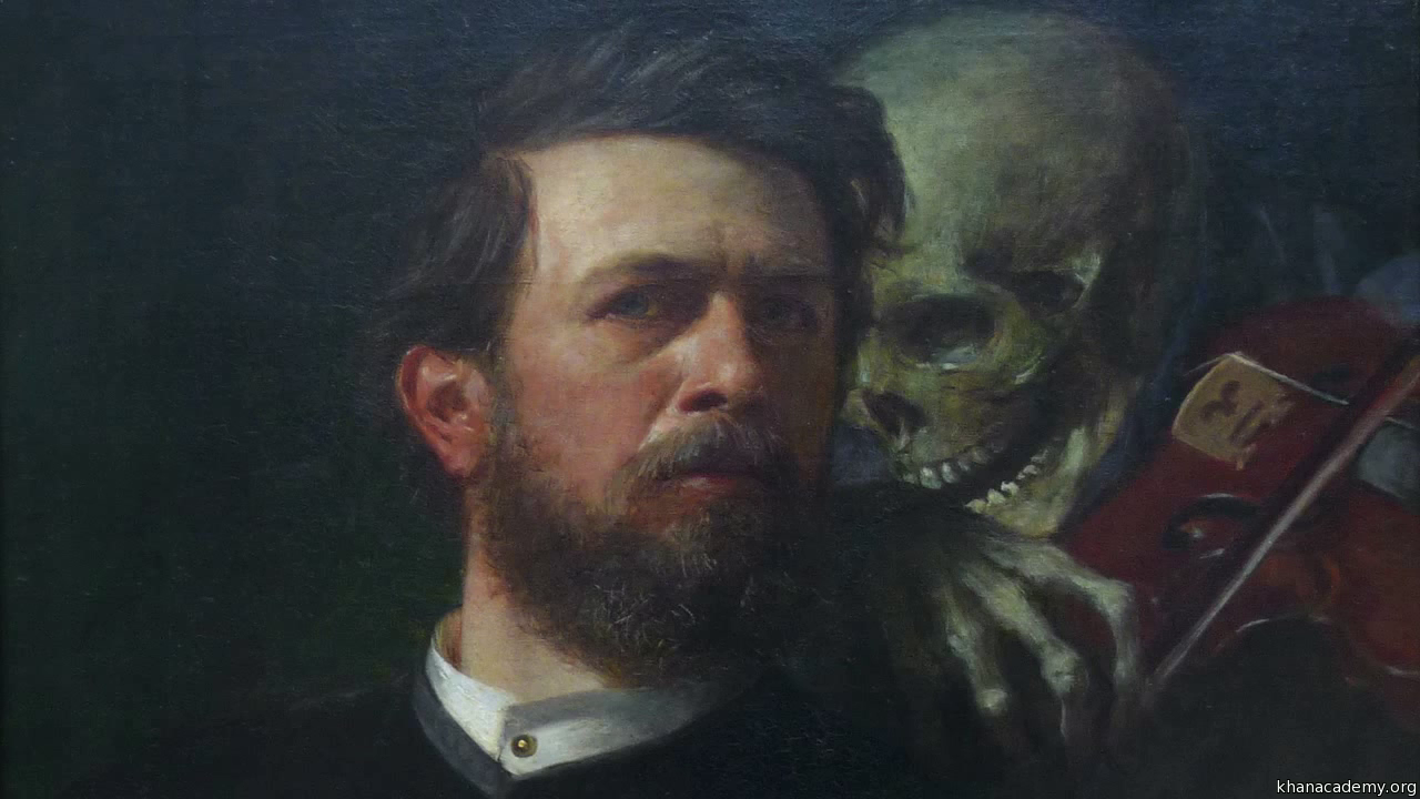 Böcklin, Self-Portrait with Death Playing the Fiddle