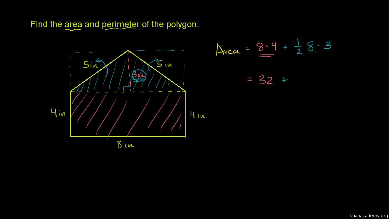 Perimeter & area of composite shapes