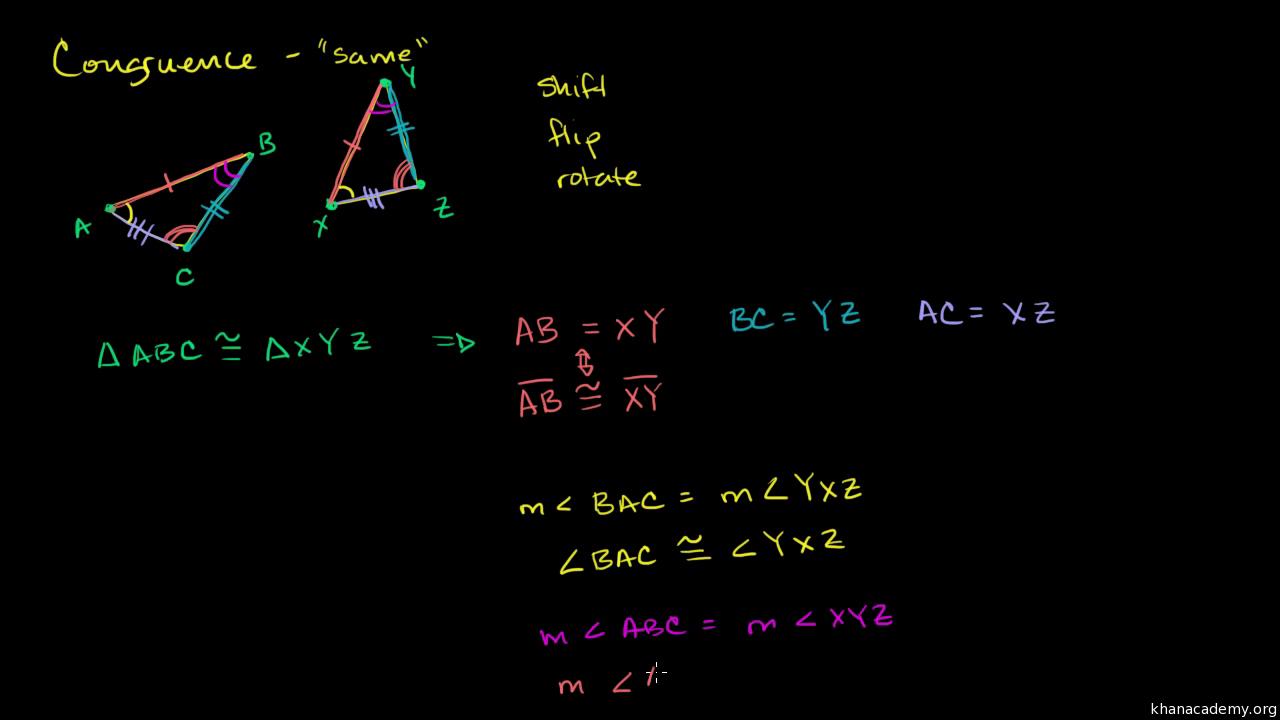 Congruence High School Geometry Math Khan Academy