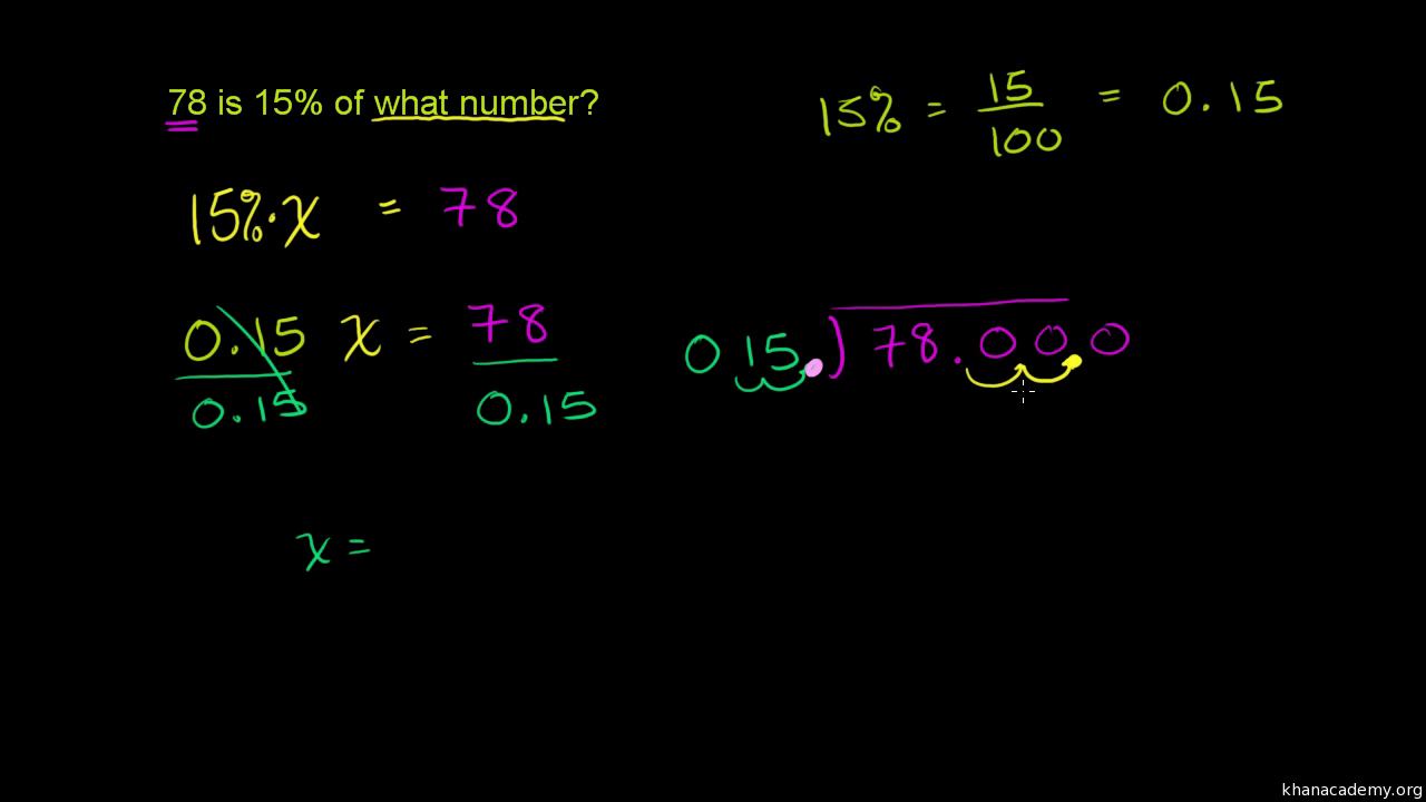 Percent word problems (practice) | Khan Academy