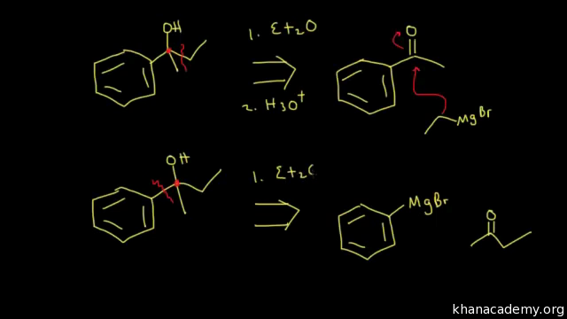 Synthesis of alcohols using Grignard reagents II (video) | Khan Academy