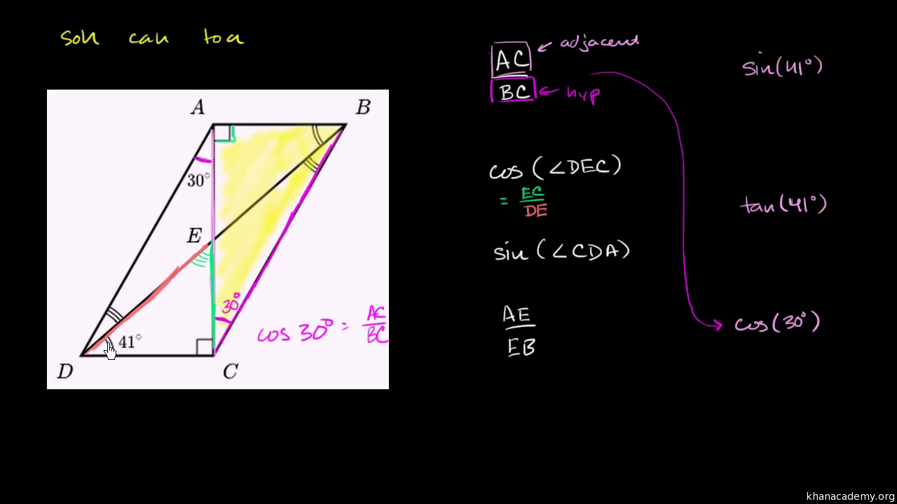 Trigonometry with right triangles | Math | Khan Academy