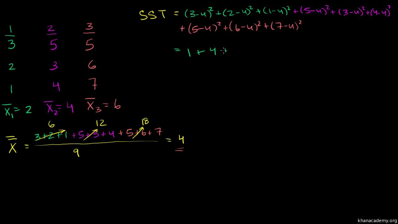 Analysis of variance (ANOVA) | Statistics and probability