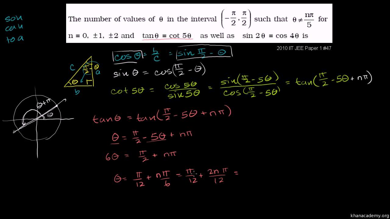 Trigonometric equations and identities | Trigonometry | Math
