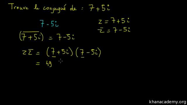 Le Conjugue D Un Nombre Complexe Video Khan Academy