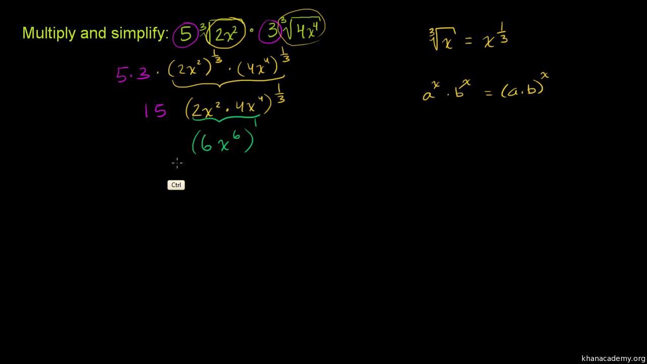 Rational exponents & radicals | Mathematics I | Math | Khan
