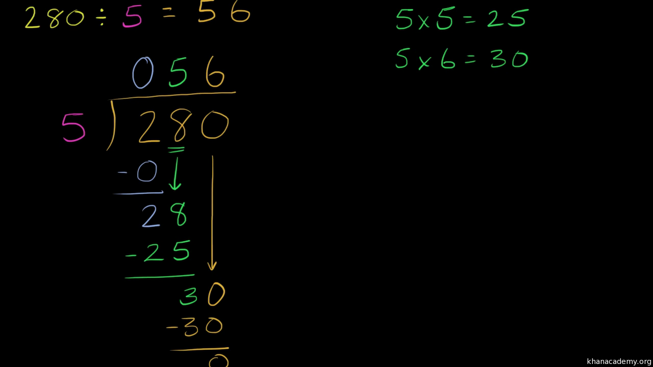 how to solve a long division problem