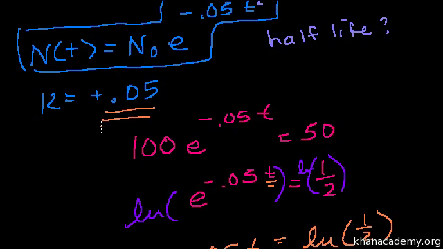 More exponential decay examples (video)   Khan Academy