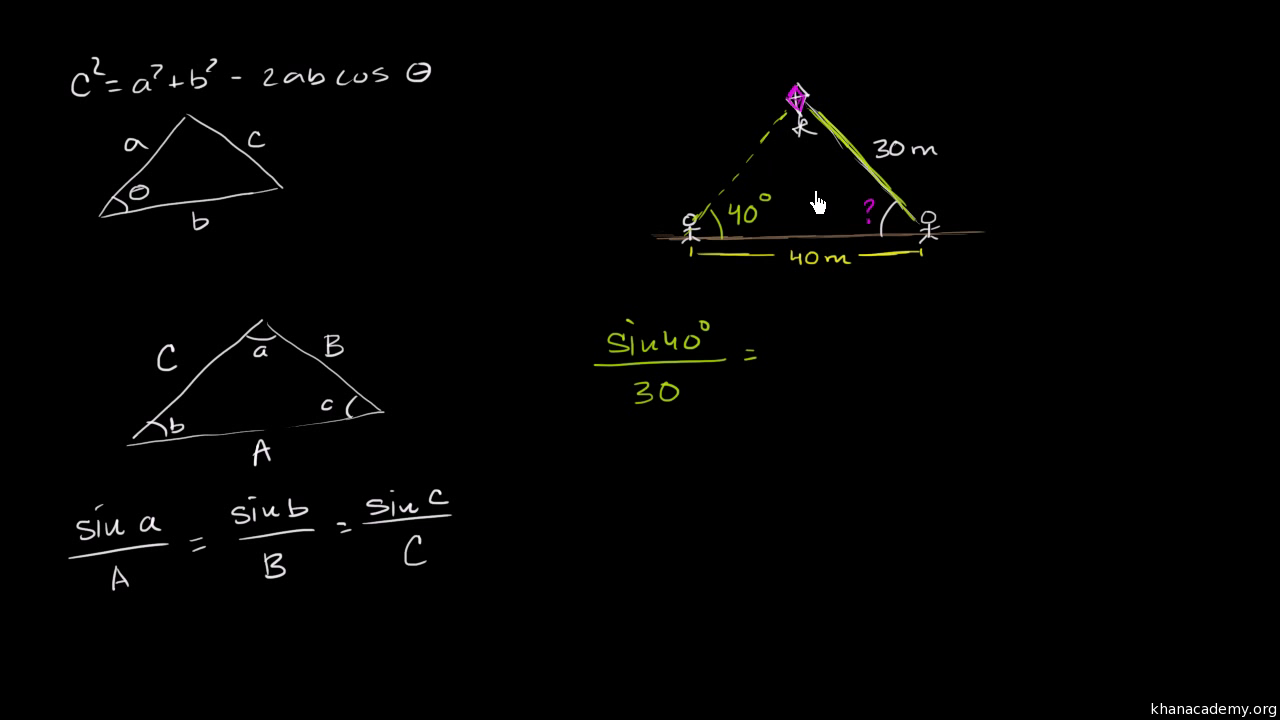 Solve Triangles Using The Law Of Sines Practice Khan Academy