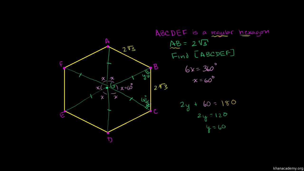 Area of a regular hexagon (video) | Khan Academy