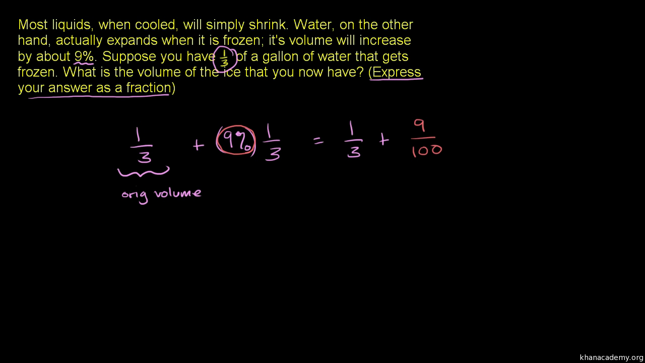 Rational number word problem: ice (video) | Khan Academy