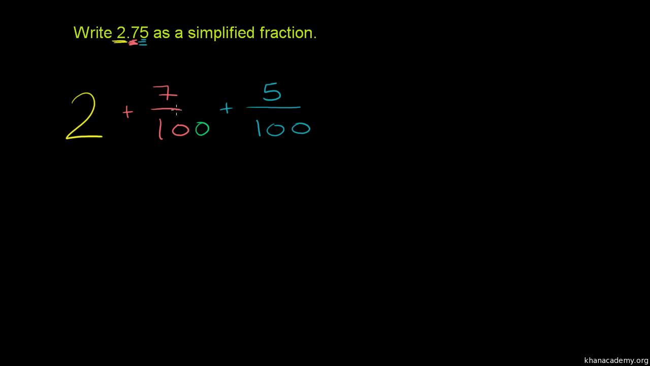 Fractions, decimals, & percentages   7th grade   Math   Khan