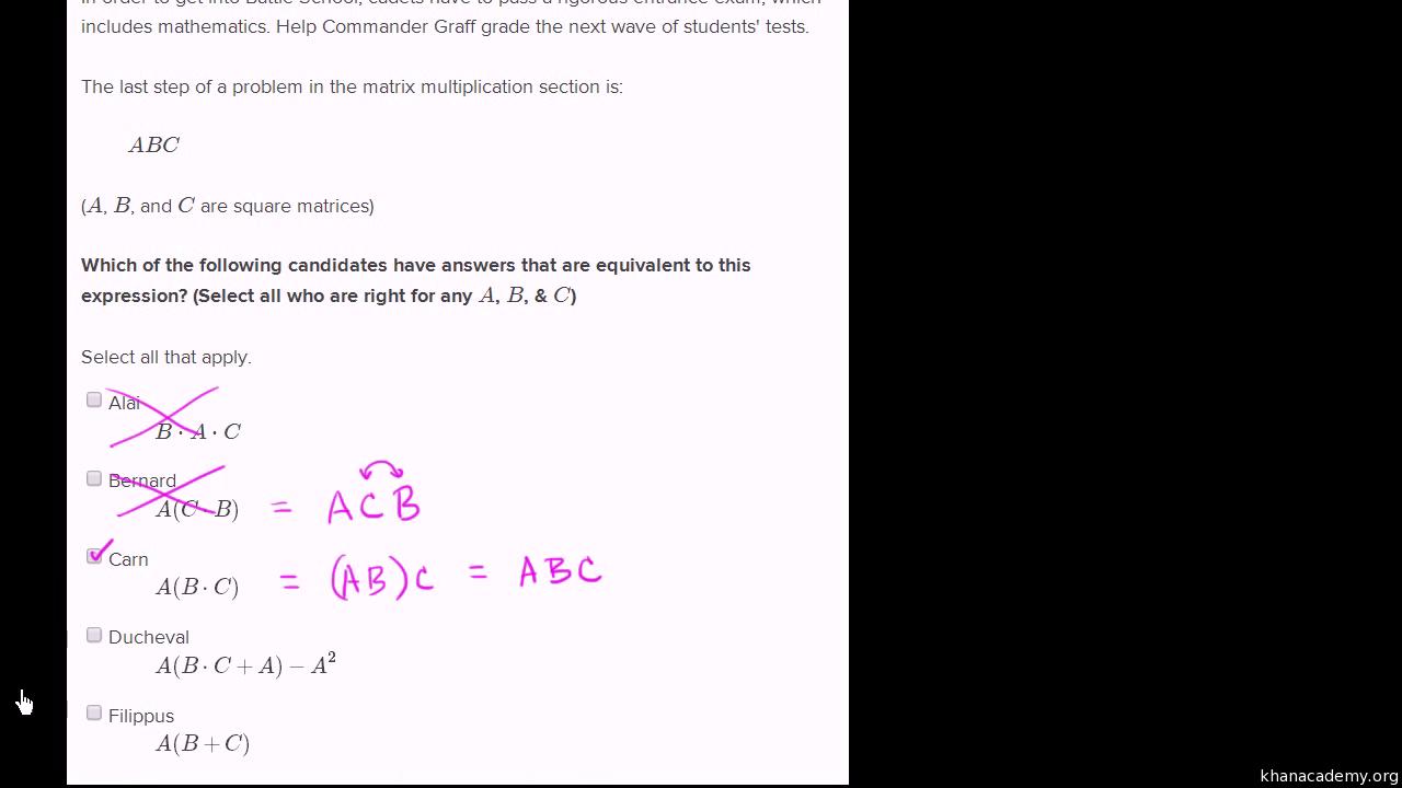 Matrices   Class 12 math (India)   Khan Academy