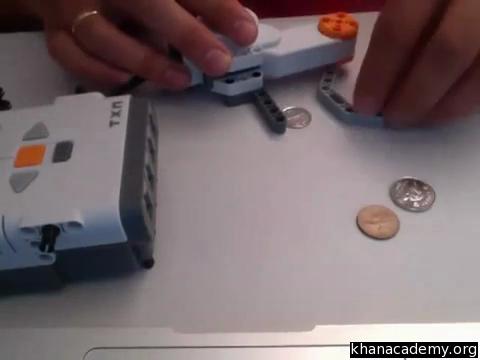 Demo: coin detector (video) | Lego robotics | Khan Academy