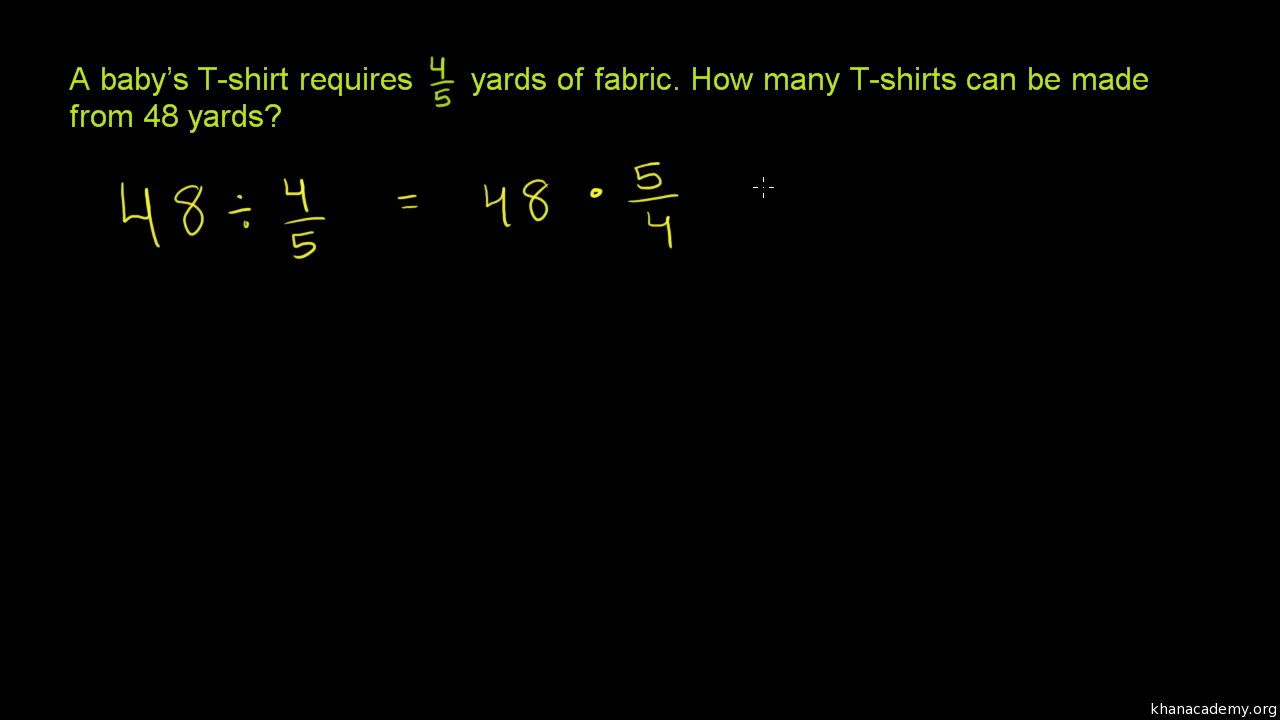 Dividing fractions word problems (practice) | Khan Academy
