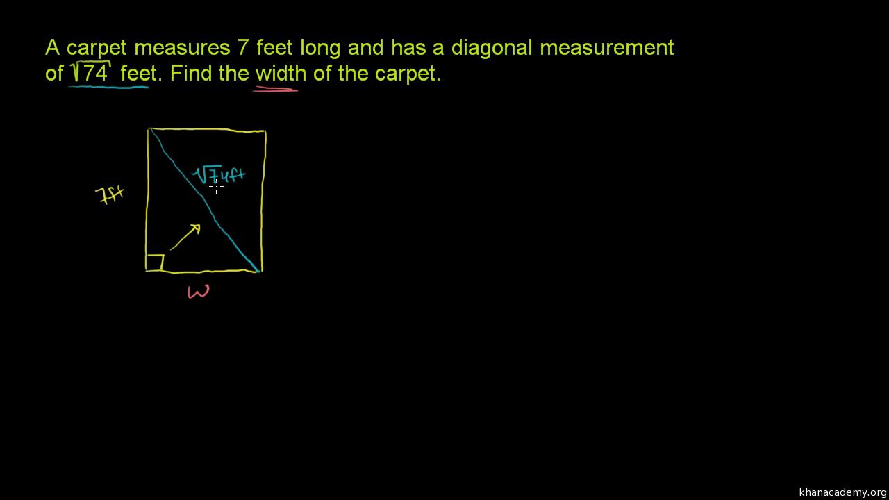 how to solve pythagorean theorem problems