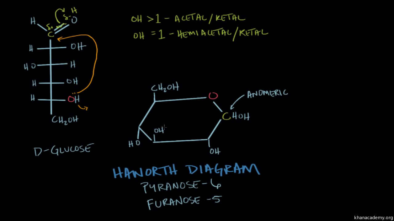 Carbohydrates Cyclic Structures And Anomers Video Khan Academy