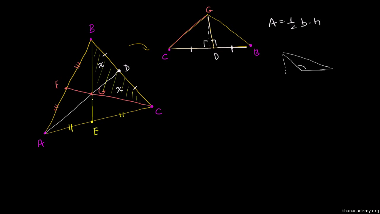 Dividing triangles with medians