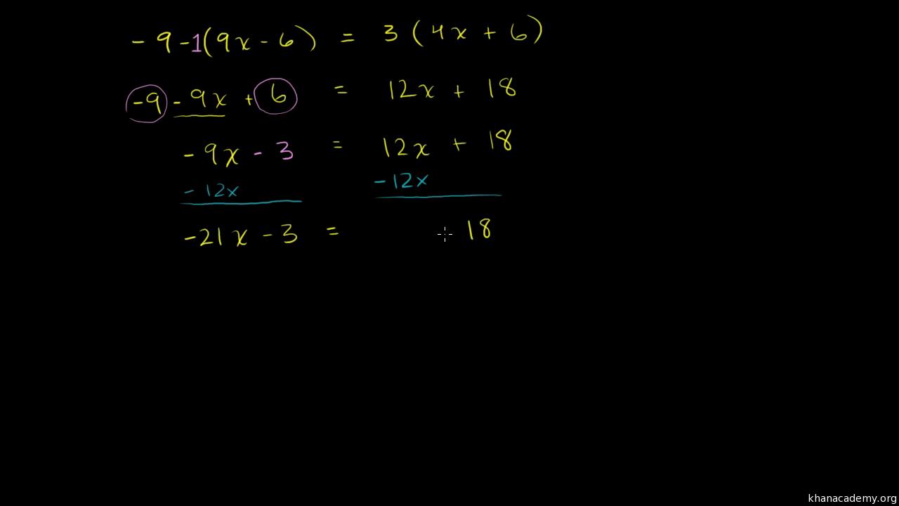 Linear equations and inequalities | Algebra basics | Math