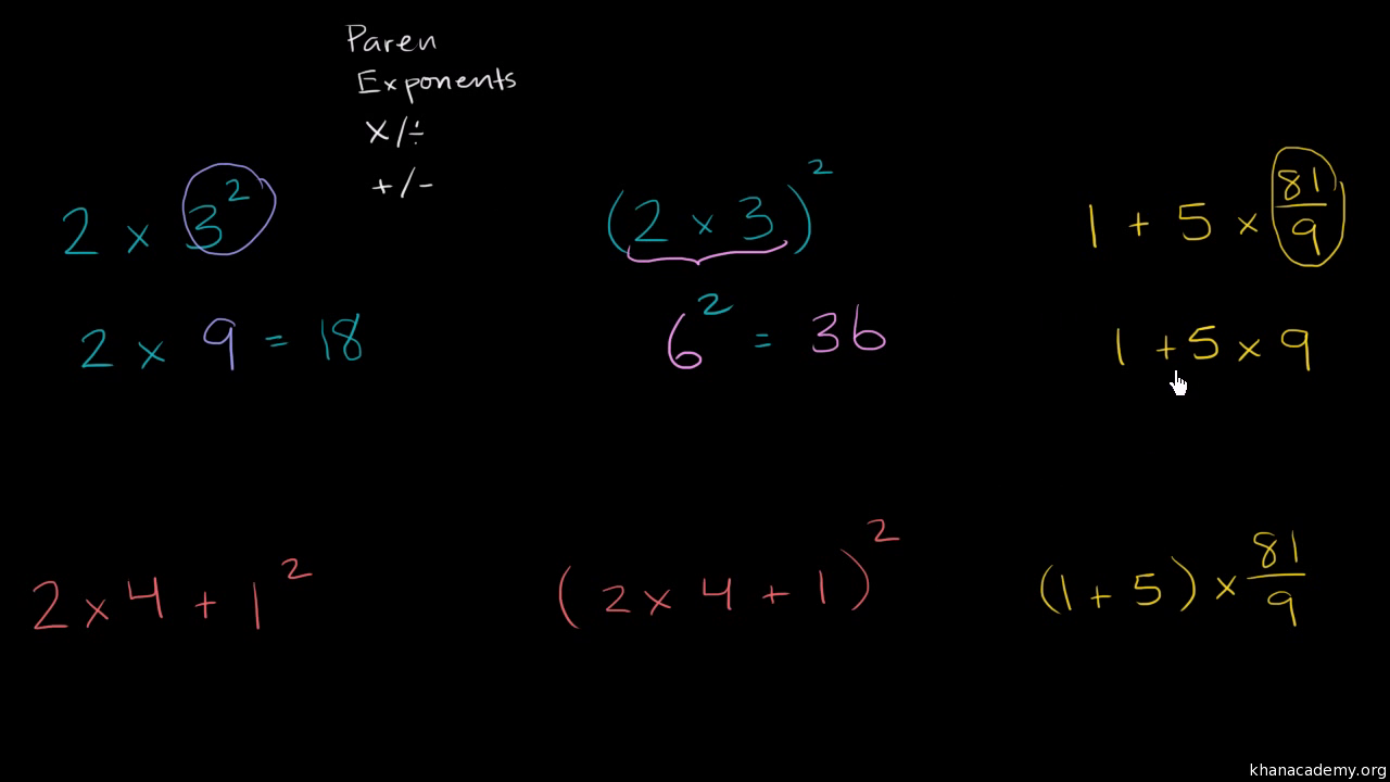 Order of operations | 6th grade (practice) | Khan Academy