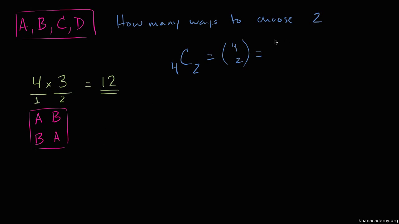 Counting, permutations, and combinations | Khan Academy