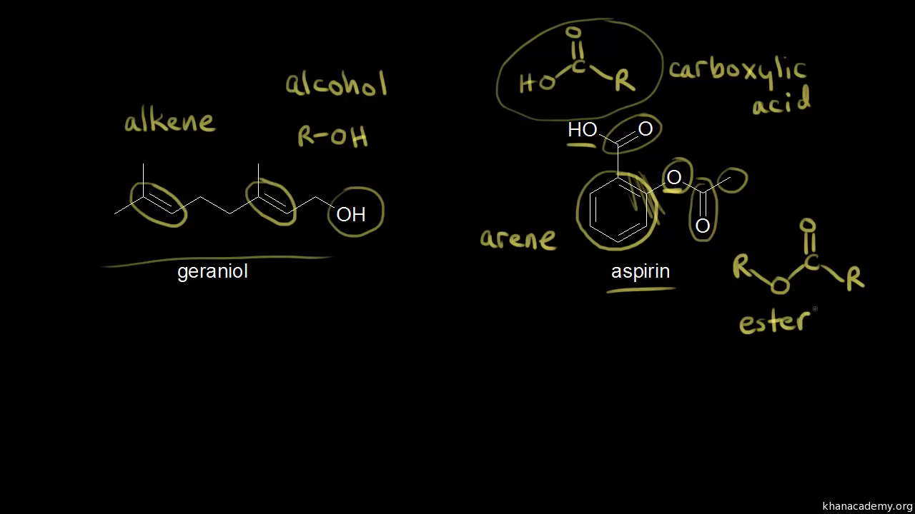Identifying functional groups (video) | Khan Academy