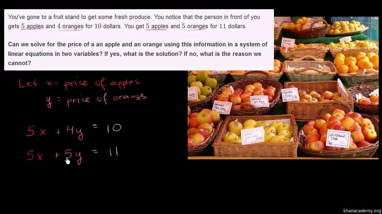 Systems of equations with elimination: apples and oranges