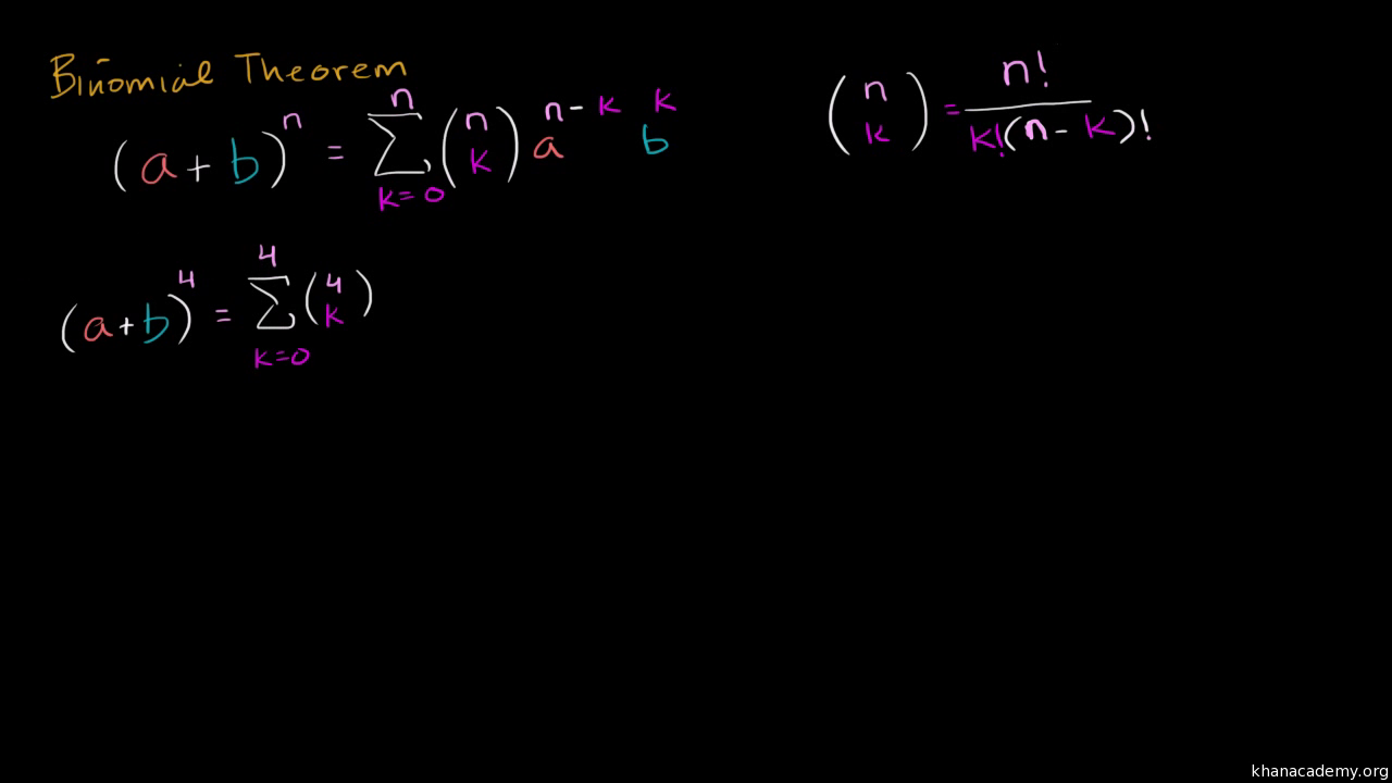 Intro to the Binomial Theorem (video) | Khan Academy