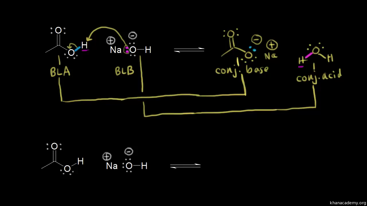 Organic acid-base mechanisms