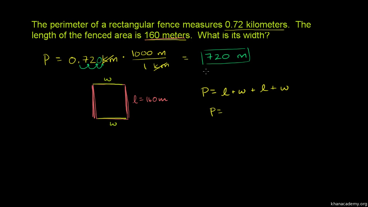 Perimeter And Unit Conversion Video Khan Academy