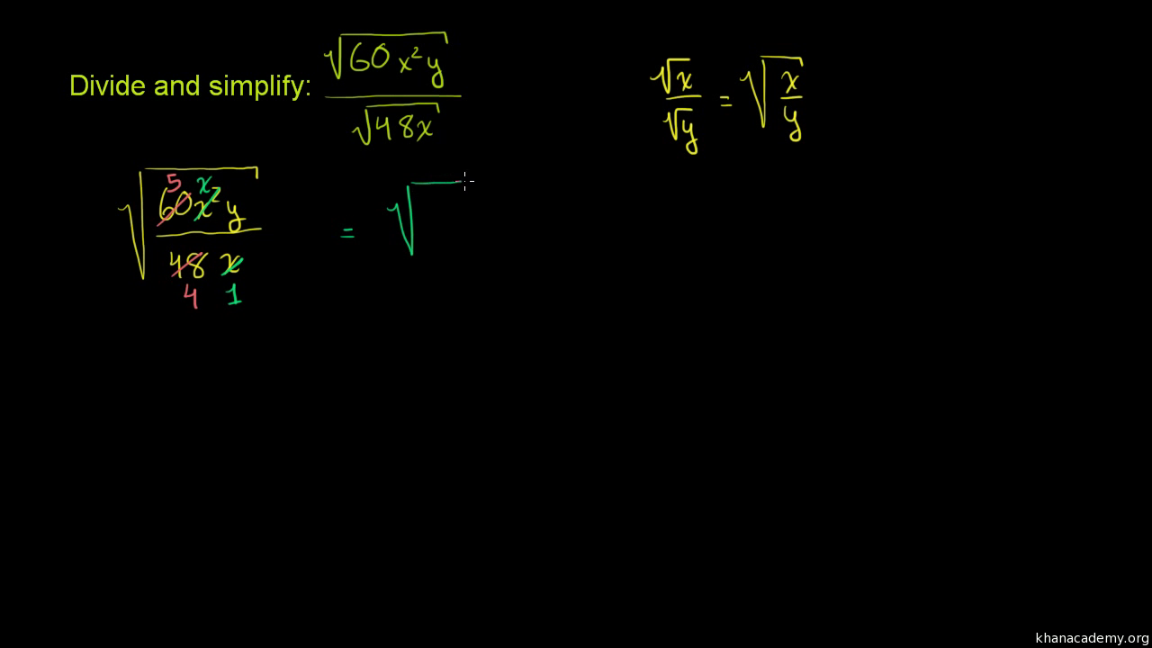 Simplifying radical expressions: two variables | Algebra ...