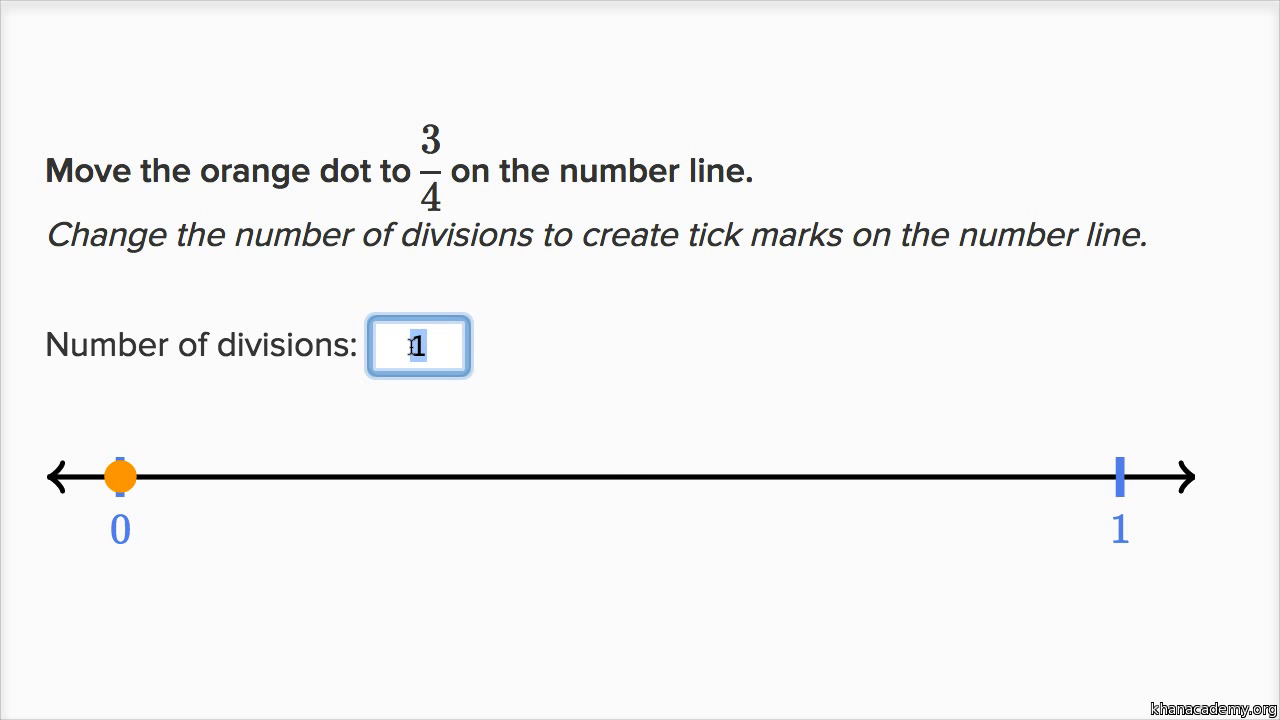 Fractions On The Number Line Practice Khan Academy